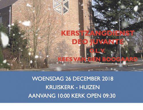 Kerstzangdienst tweede kerstdag in de Kruiskerk