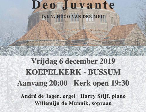 KERSTCONCERT DEO JUVANTE in Koepelkerk in Bussum